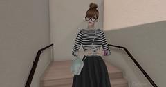 Entrance no.262 (Curiosse) Tags: dress stripes hipster naif monochrome black white vestido negro blanco noir blanc rayas virtue 2018 new