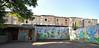colorful backyard (rafasmm) Tags: łódź lodz poland polska europe city citycenter citynature streetart backyard colorful tenement house paint painting painted graffiti school nikon d90 sigma 1020 ex outdoor old buildings urban