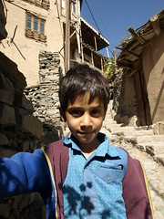 PA086315 (bartlebooth) Tags: iran kang village kangvillage razavikhorasanprovince muslim persian iranian adobe hillside mountain olympus e510 evolt silkroad portrait boy
