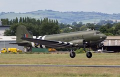 Battle of Britan Douglas C-47 Dakota III ZA947 @ Exeter Airport, Devon. (PS Photogaraphy) Tags: battle britan c47 dakota iii za947 exeter airport devon world war 2 wwii flying flight relic historic sky takeoff airborne douglas