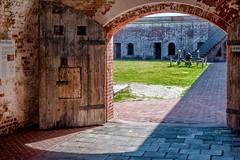 Fort Macon NC - Doors To Yard (Modkuse) Tags: fort fortmacon fortmaconnc historicalfort northcarolina nikon nikondslr nikond700 nikkor 50mmf18 50mmf18nikkor
