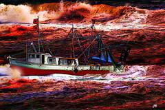 The Storm (Mike Pesseackey (UAGUY1)) Tags: florida storms hurricanes weather art digitalart photoshop nikond7500 seas waves