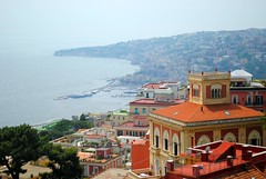 Looking West from Castel Sant'Elmo (zawtowers) Tags: naples napoli campania italy italia may 2018 summer holiday vacation break warm dry sunny tuesday 29th castel santelmo castle bult 1537 historic hilltop overlooking city vomero hill looking west mergellina harbour posillipo