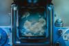 blue sky thinking...22/52 (Jess Feldon) Tags: colour 52weeks colourfusion trueblue blue challenge pentaconsix vintagecamera clouds sky jessfeldon project throughtheviewfinder view