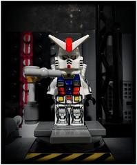 RX-78-2 Gundam (LegoKlyph) Tags: lego custom brick block mini figure gundam mobile suit earth space anime cartoon mech war robots robo