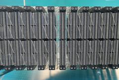 Magnetic core plane - early computer memory storage (Monceau) Tags: muséedesartsetmétiers paris magnetic core plane gamma60 1960s computerstorage macro