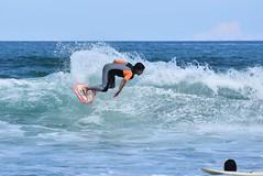 DSC_2402 (marcnico27) Tags: 2018 marcnico27 outdoor wet surf board male sansebastian sky blue orange man spain donostia sport