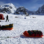 My sledge is ready to leave Base Camp (7200ft / 2200m) (in Explore 2018-06-10, Ranked #218) thumbnail