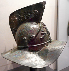 """""""Gladiator helmet"""" (1st century AD) from Portico Area (""""Quadriporticus"""") then transformed into a gladiator barrack at Pompeii - Exhibition """"Hero"""" up July 31, 2018 at Archaeological Museum of Naples (Carlo Raso) Tags: gladiator helmet porticoarea quadriporticus gladiatorbarrack pompeii exhibition hero archaeologicalmuseum naples"""