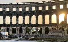 Calm (aiva.) Tags: croatia istria pula hrvatska coloseum arena architecture sunset istra balkan coliseum amphitheater jadran adriatic ruins antic