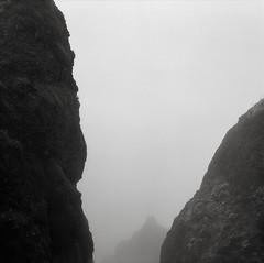 On Saddle Mountain, Oregon (austin granger) Tags: saddlemountain oregon fog rock geology negativespace shapes obscured scale square film gf670 trix