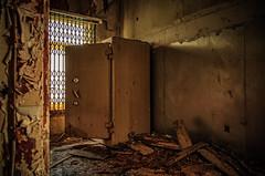 old abandoned Hotel safe (Peter's HDR-Studio) Tags: petershdrstudio hdr lostplace abandoned abandonedplace abandonedhotelsafe verlassen verlassenerort verlassenerpanzerschrank window fenster