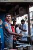 Chai Vendor on a busy street in Mumbai (Kristaaaaa) Tags: india travel fujifilm fujixt2 colour culture people street mumbai bombay food chai