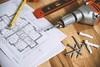 Floor Plan on Table - Credit to http://homedust.com/ (Homedust) Tags: blueprint designing diagram drill drilling machine metal paper planning print screws tape measure tools wood wooden work workshop