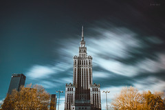 Palace of Culture and Science (Soren Wolf) Tags: ir infrared warsaw poland nikon d7100 sigma 1020mm warszawa palace culture science filter exposure very long