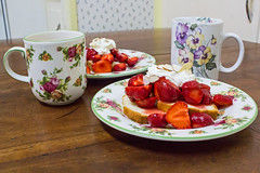 Strawberries and Coffee (Dave In Oregon) Tags: strawberries coffee dessert spring oregon rainieroregon