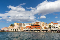 Janissaries Mosque in Chania (Matthias58) Tags: landscape water canoneos6d weather chania bluesky harbourofchania canonef2470mmf28liiusm mediterraneansea harbour equipment sky architecture greece crete photography places house kreta griechenland gr