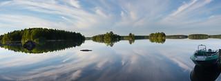 Cloud reflections panorama