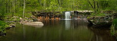 180523 Wolf Creek Falls Pan 2 (Rocks and Waters) Tags: 1805xxnorthshore banniongstatepark minnesota river wolfcreekfalls landscape nature spring woods sony sonyalpha a7r2 a7rii zeiss loxia loxia235