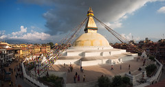 Peaceful Place (MANUELup) Tags: kathmandu nepal stupadeboudhanath boudhanath stupa heritage building religion sacred sanctuary travel trekking trip naturallight light colourful peaceful city cityscape people house