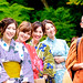 Kimono girls and monks from Thailand : 着物少女たちとタイから来た僧侶