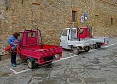 WHICH SHOULD I CHOOSE TODAY? (LitterART) Tags: ape piaggio dreirad toscana italy italia