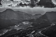 Sheeps Lake Valley RMNP (Darren White Photography) Tags: monochrome colorado rockymountainnationalpark sunrays sigmalens darrenwhite rockymountains