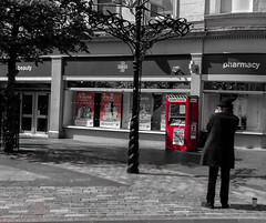 the busker (johnny_9956) Tags: busker dundee scotland street urban city people red