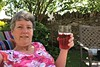 153 2018 gardening, a rest, & choir concert (Margaret Stranks) Tags: 153365 365days 2018 garden drink glass dove wall chair ice quenington gloucestershire uk