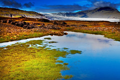 Lake and Skalafellsjoekull, Vatnajoekull National Park, Iceland (klauslang99) Tags: klauslang nature naturalworld europe iceland landscape skalafelljoekull glacier water lake mountains