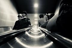 moody. (framingthestreets) Tags: japan tokyo shinjuku shibuya odaiba takadanobaba blackandwhite streetphotography streetphotographer daidomoriyama streertart reality reallife livingthemoment captured framed metro subway stairs