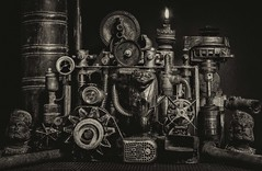 Le gardien (jecrye8) Tags: nikond5500 nikkor nb noiretblanc bw blackandwhite monochrome art france steampunk sf création creation photo image flickr jecrye