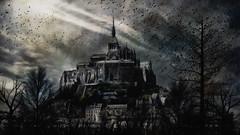 Gothic Morning (David DeCamp) Tags: gothic morning dark sky castle fantasy topazimpression2 textured