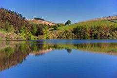 Mr Blue Sky ..... GOOD MORNING! (Missy Jussy) Tags: bluesky blue reflections water reservoir ogden ogdenreservoir trees landscape lancashire rochdale outdoor outside dogwalk fields hills hillside lovelyday canon 5d canon5dmarkll canon5d canoneos5dmarkii ef50mmf18ii 50mm fantastic50mm prime lens fixedfocallength