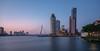Rotterdam in 5 minutes (Peet de Rouw) Tags: wilhelminapier rotterdam hdr longexposure nieuwemaas rijnhaven kopvanzuid wpc montevideo erasmusbrug canon5dmarkiv canonef24105mmf4lisusm twilight
