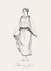 Dancing girl from An illustration of the Egyptian, Grecian and Roman costumes by Thomas Baxter (1782-1821).Digitally enhanced by rawpixel. (Free Public Domain Illustrations by rawpixel) Tags: illustration publicdomain otherkeywords afterlife afterworld anillustrationoftheegyptian ancient ancienttimes antique baxter cc0 dancing drawing empire girl goddess gods grecian grecianandromancostumes greek historic historical history lady myth mythology necklaces old oldkingdom pausanias performing romans sketch thomasbaxter vintage worship