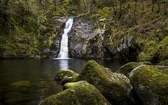 Waterfall near Tal-y-bont (Keartona) Tags: talybont waterfall fall conwy northwales wales welsh landscape woods afondulyn rocks spring magical beautiful nature place pool