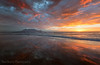 Wow Sky Reflections (Panorama Paul) Tags: paulbruinsphotography wwwpaulbruinscoza southafrica westerncape capetown tablemountain blaauwbergbeach sunset mountain clouds orange pink reflections nikond800 nikkorlenses nikfilters