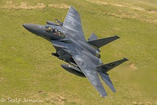01-2004 McDonnell Douglas F-15 Strike Eagle US Airforce Mach Loop 11.06-18