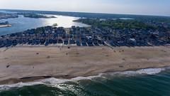 Manasquan Beach and the Atlantic Ocean on May 25, 2018, captured by a DJI Phantom 4 drone. (apardavila) Tags: atlanticocean djiphantom4 jerseyshore manasquan manasquanbeach aerial beach beachfronthomes drone sky sunlight