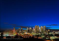 Venus and Stars Setting over Calgary Skyline (Amazing Sky Photography) Tags: calgary capella castor cokin neutraldensity pollux spring twilight venus citylights evening graduatednd lightpollution setting skyline stars urban
