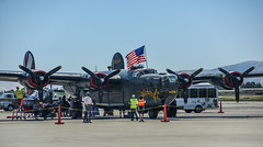 post memorial day tours (pbo31) Tags: eastbay bayarea alamedacounty color nikon d810 may 2018 boury pbo31 aviation plane airport flight history aircraft historic airforce tour wwll livermoremunicipalairport lvk livermore california blue america flag memorialday holiday bomber green people