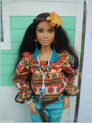 Summer festival trip -  Shania (Mary (Mária)) Tags: barbie mattel fashion camper boho chic hippie piknic freedom love peace handmade flower power style summer doll collector dollphotography dollcollector dollphotographer exterior marykorcek
