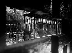 A Glaze to the Hall of Lamps -Man Mo Temple- (Hong Kong, China. Gustavo Thomas © 2018) (Gustavo Thomas) Tags: manmo temple templo taoism hingkong china chinese religion mono monoart monochrome monocromático cinematic bnw blackandwhite biancoenero blancoynegro blancheetnoir bn interior glaze through