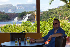The favorite beer spot (Stig Nygaard) Tags: 2010 50d bolivarianrepublicofvenezuela bolívar bolívarstate canaima canaimanationalpark canonefs60mmf28macrousm canoneos50d creativecommons curatabaca estadobolívar friends gransabana guayana guayanaregion lagransabana parquecanaima people photobystignygaard repúblicabolivarianadevenezuela sabana thegransabana thegreatsavannah unescoworldheritagesite venezuela worldheritagesite southamerica waterfalls waterfall fall foss salto cascadas falls beer cheers skål toast relax relaxing outlook view cuw23 ven parquenacionalcanaima parknacionalcanaima