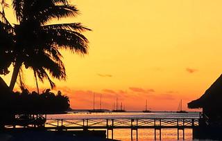 Tahiti golden hour