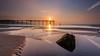 One man and his Camera (Justin Cameron) Tags: coastline canonef1635mmf4lisusm sunset leegraduatedfilter coastal saltburn pier seascape saltburnbythesea sunlight canon5dmkiii rocks