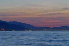 Golden Hour (n.pantazis) Tags: outdoors moon crescent dusk clouds pink blue longexposure tamron peloponnese peloponnisos pentaxks2