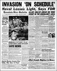 D-Day, Invasion Of France, Honolulu Star Bulletin Newspaper, June 6, 1944 (France1978) Tags: dday invasionoffrancejune6 1944