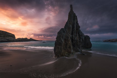 Mexota (Asturias, Spain) (Tomasz Raciniewski) Tags: mexota spain beach shore landscape seascape sunset light coast outdoor asturias mar sea sky clouds ocean